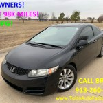2010 Honda Civic Ex Coupe Black Auto Low Miles Just 98k Miles Gas Saver 40mpg Super Sporty Auto Factory Llc Dealership In Broken Arrow