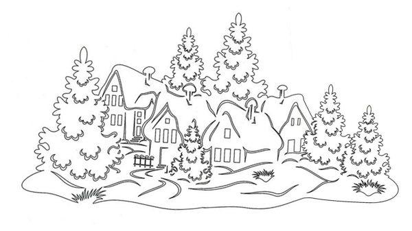 Зимние пейзажи Вытинанки