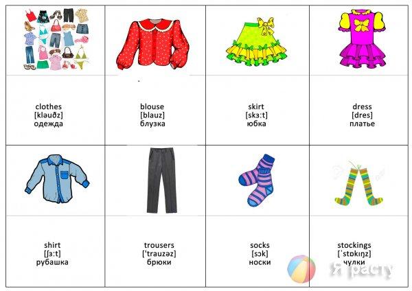 Учим английский в картинках одежда - Всё о изучении ...