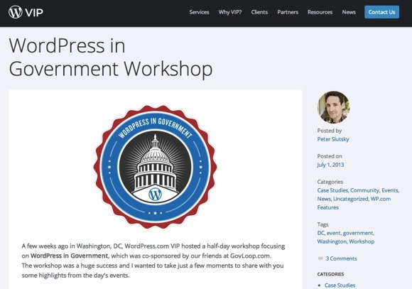 「Wordpress in Government」ワークショップのブログ記事
