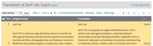 承認待ち状態の翻訳は背景が黄色になります。こちらはオランダ語の例。