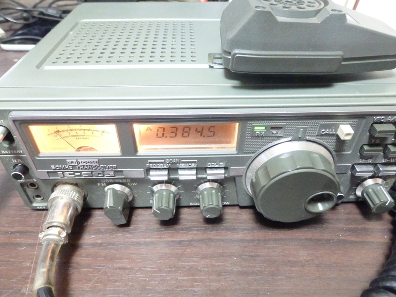SSB全盛期のアイコムのIC-505