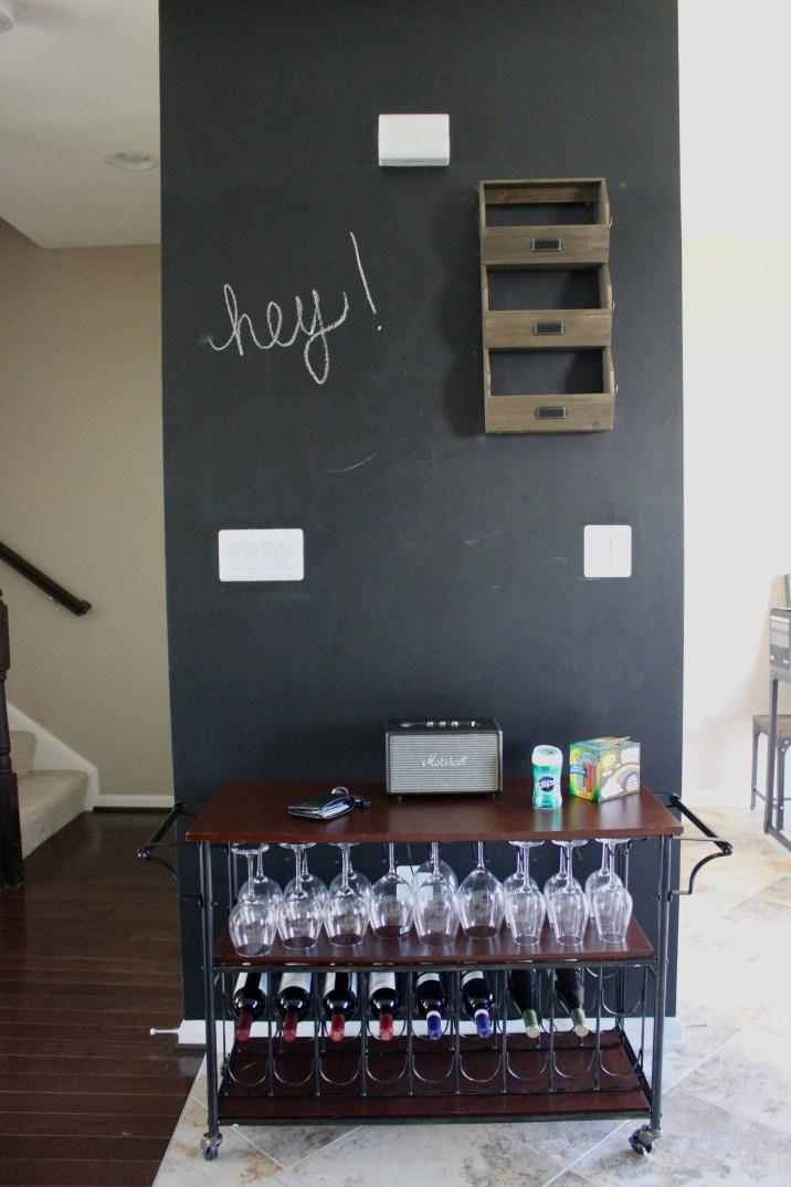 Wine Rack + Chalkboard Wall