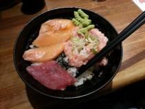 Raw fish and rice bowl!