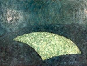 Graanveld 2, olieverf 100 x 70 cm