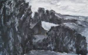 Grand Corneau, acryl 70 x 100 cm