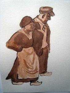Klepperman 15 - sepia, 25 x 20 cm