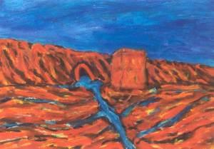 Noordpolderzijl, acryl 100 x 70 cm