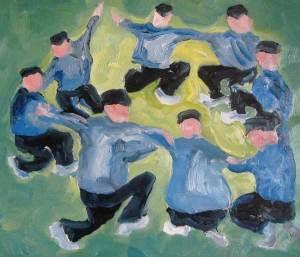 Studie: La danse, olieverf 30 x 35 cm