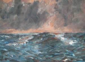 Waddenzee, acryl 37 x 50 cm