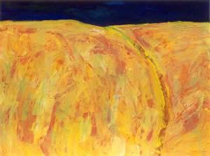 Zomeravond 3, acryl 37 x 50 cm