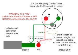 How to Wire an Unbalanced Microphone To A Balanced XLR Input | :>)azZTechs#