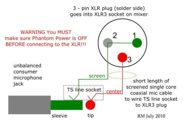 How to Wire an Unbalanced Microphone To A Balanced XLR