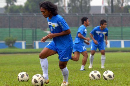 Skuad Maung Bandung berlatih di Stadion Siliwangi beberapa waktu lalu. (DOK JABARTODAY.COM)