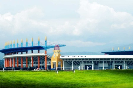 Stadion Si Jalak Harupat kebanggaan Kabupaten Bandung.