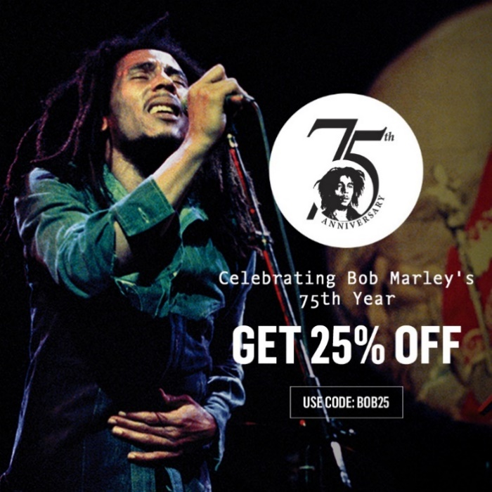 25% off House of Marley in celebration of Bob Marley's 75th year