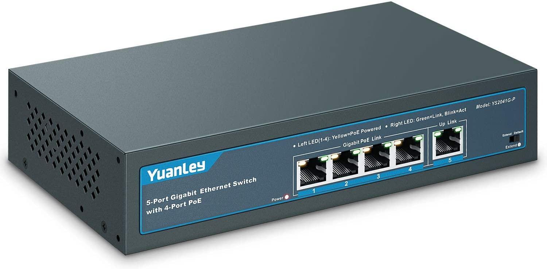 YuanLey 5 Port Gigabit PoE Switch Review