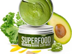 100% Vegan Face Clay Mask with Avocado & Superfoods Review