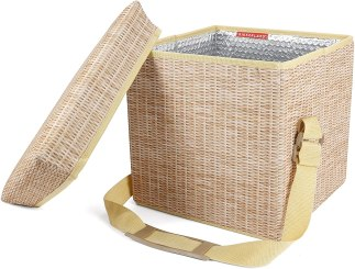 Kikkerland Collapsible Wicker Print Picnic Cooler Basket & Seat Review