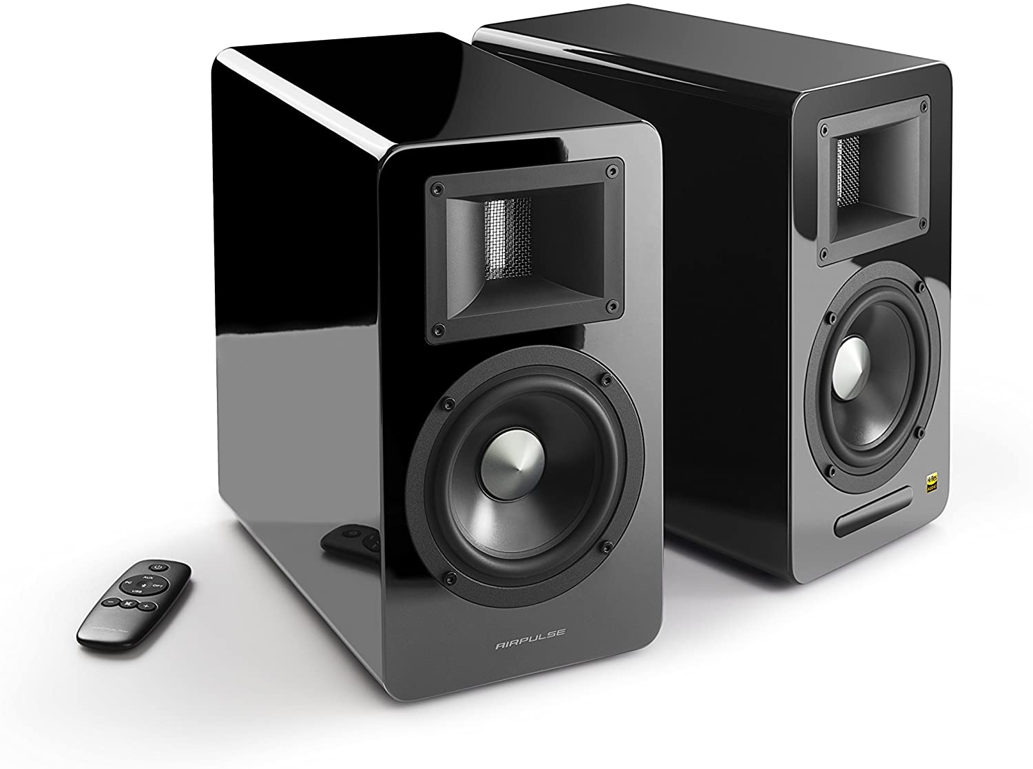 THE AIRPULSE A100 ACTIVE BOOKSHELF SPEAKERS