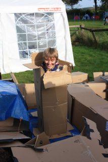 Cardboard box Caving