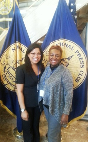 Rhea and Vernita WHouse National Press Club