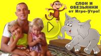 игро-утро слон и обезьянки