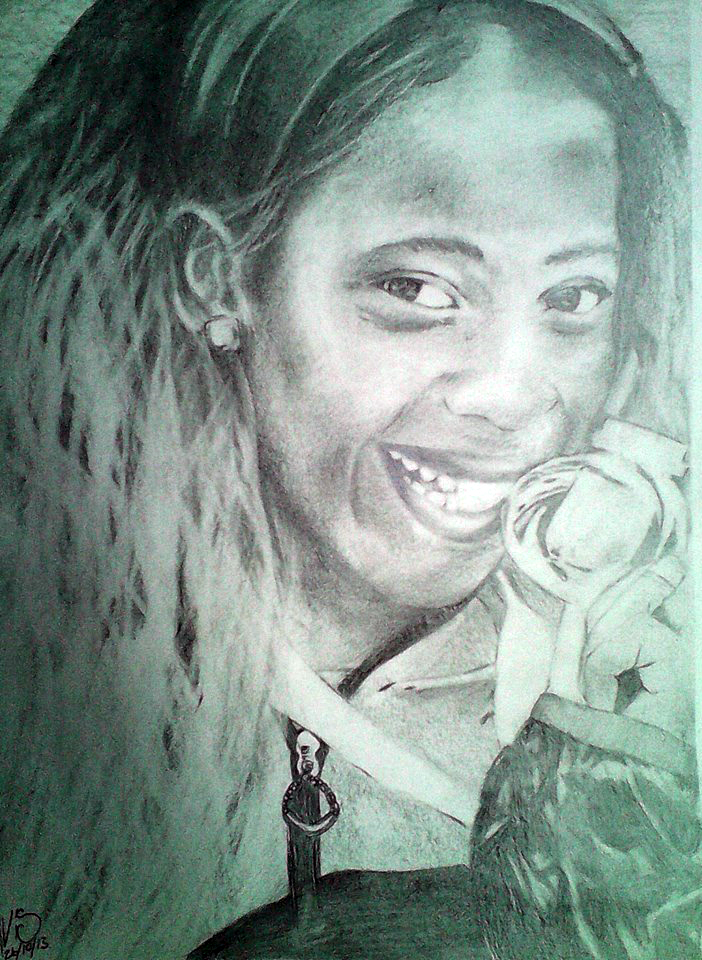drawing of shelly ann fraser