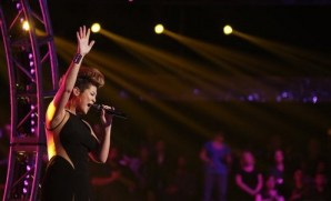 Tessanne Chin singing Like a Bridge Over Troubled Water