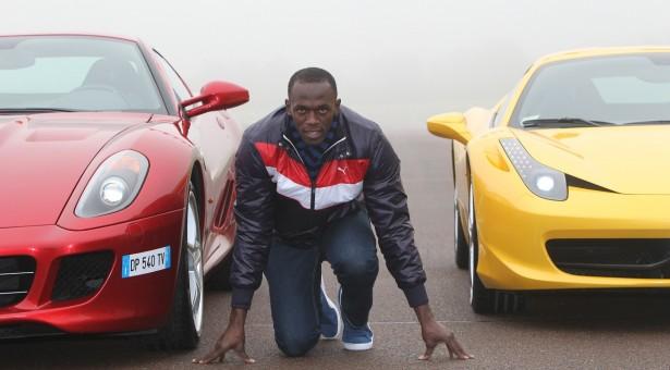 Usain Bolt vs bus - human faster than car