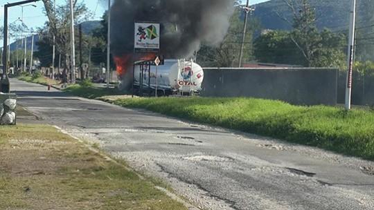 gasoline truck explode Jamaica