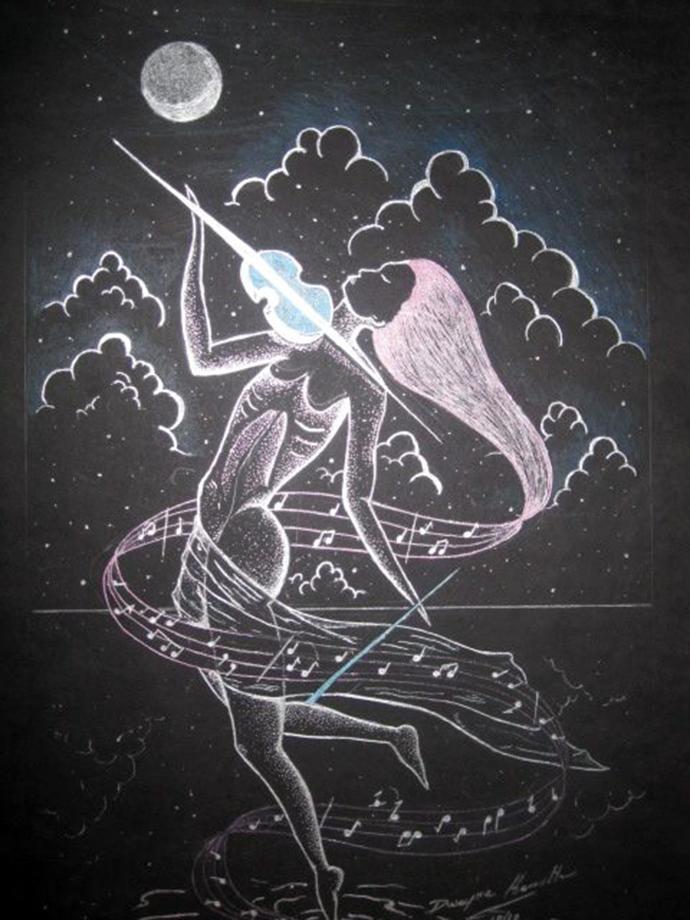 drawing by Dwayne Hamilton Jamaica artist
