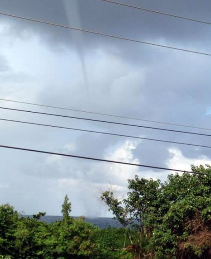 Tornado sighting in Jamaica land spout