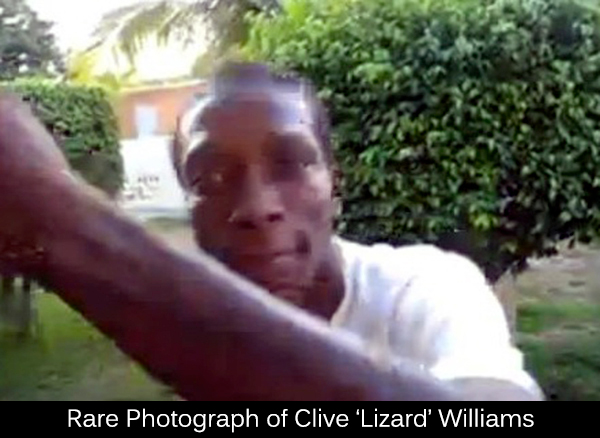 Rare photo of Clive Lizard Williams