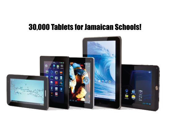tablets in Jamaican schools thousands