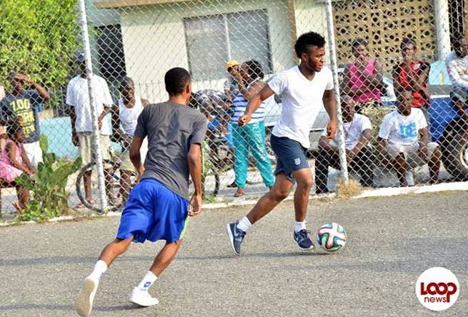 Raheem Sterling playing football in Maverley Jamaica picture video