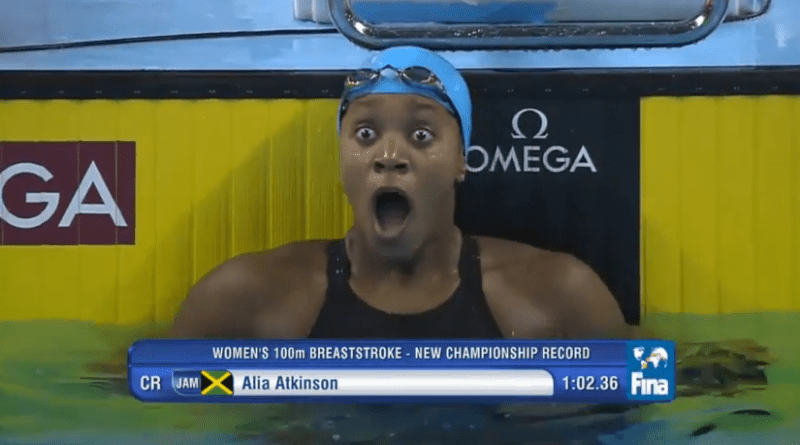 Alia Atkinson world record swim breaststroke