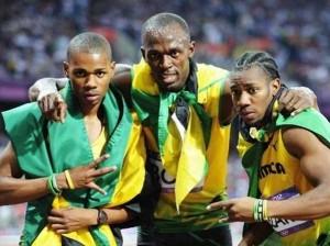 Jamaican sprinters Weir, Usain Bolt and Yohan Blake - Image via: jamaica-gleaner.com