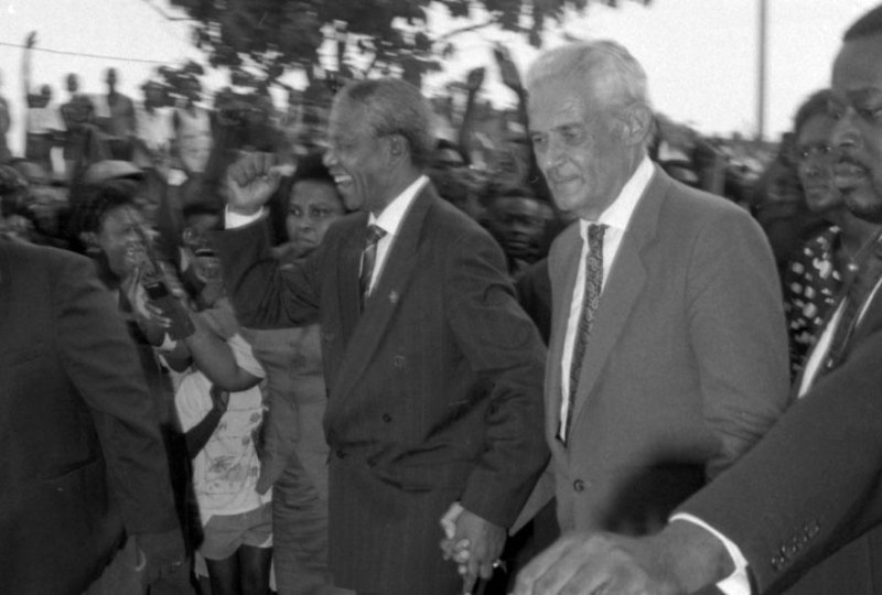 Nelson Mandela and Michael Manley via jis.gov.jm