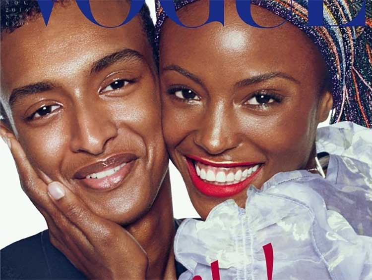 Magazine cover by Steven Meisel for Vogue Magazine