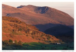Late Light on the Fells. (Click on the photo for added detail.)