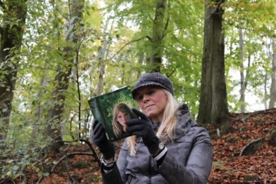 J A Browne holding Gaia's Revenge Book Two in The Earth Chronicles fantasy series