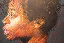 Portrait of artist Kara Walker. Oil on canvas