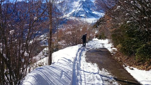 Bajando, nos vamos quedando sin nieve