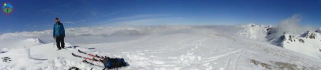 Panorámica de la parte francesa, llena de nubes