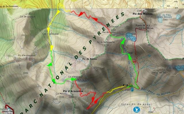 Mapa general de la salida