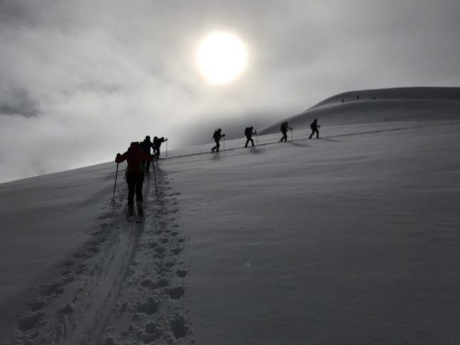 Enero: Subida cresta des Moines