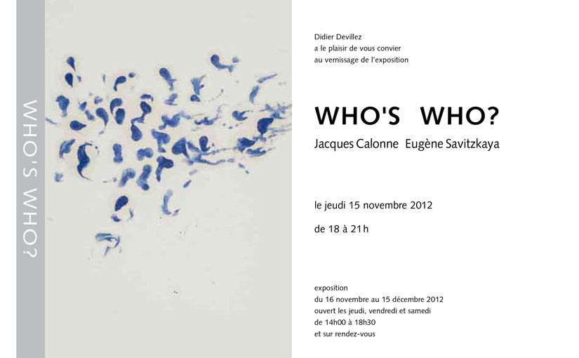 2012 : exposition Who's who ?