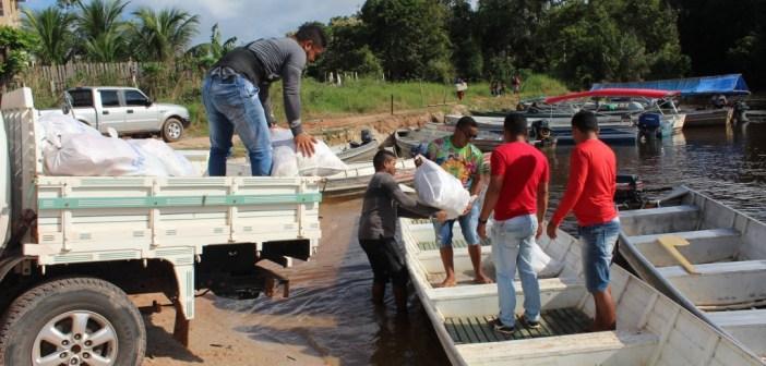 Escolas do Rio Tapajós Recebem Merenda na Escola