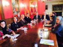 Reunión con los portavoces de los grupos municipales del Ayuntamiento de Jaca.
